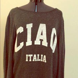 Wildfox medium Ciao Italia soft sweatshirt